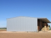 Hay shed with cantilever canopy - Vic