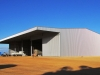 Machinery shed with enclosed workshop cantilever canopy - Northern Vic