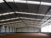 Gable roof riding arena, steel building with skylights - Central Victoria