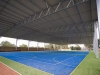 Gable roof building over school sports court  - VIC