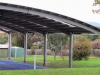 Curved school sports court cover with Circular columns & Circular beams